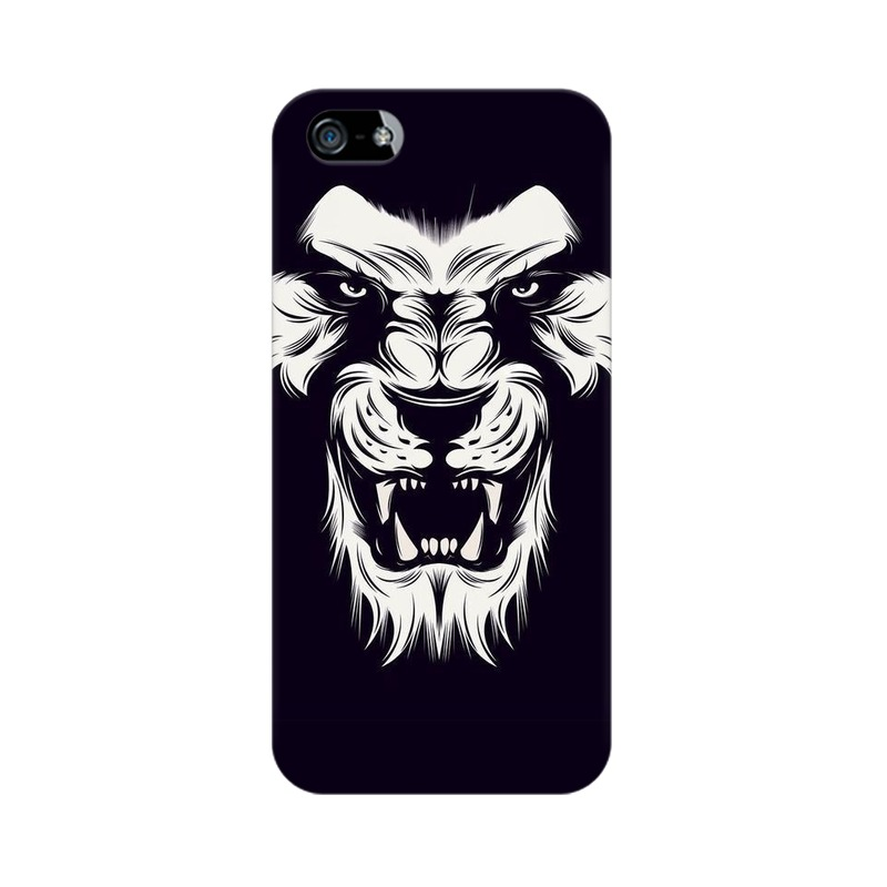 Angry Wolf Apple iPhone 5 Mobile Cover Case