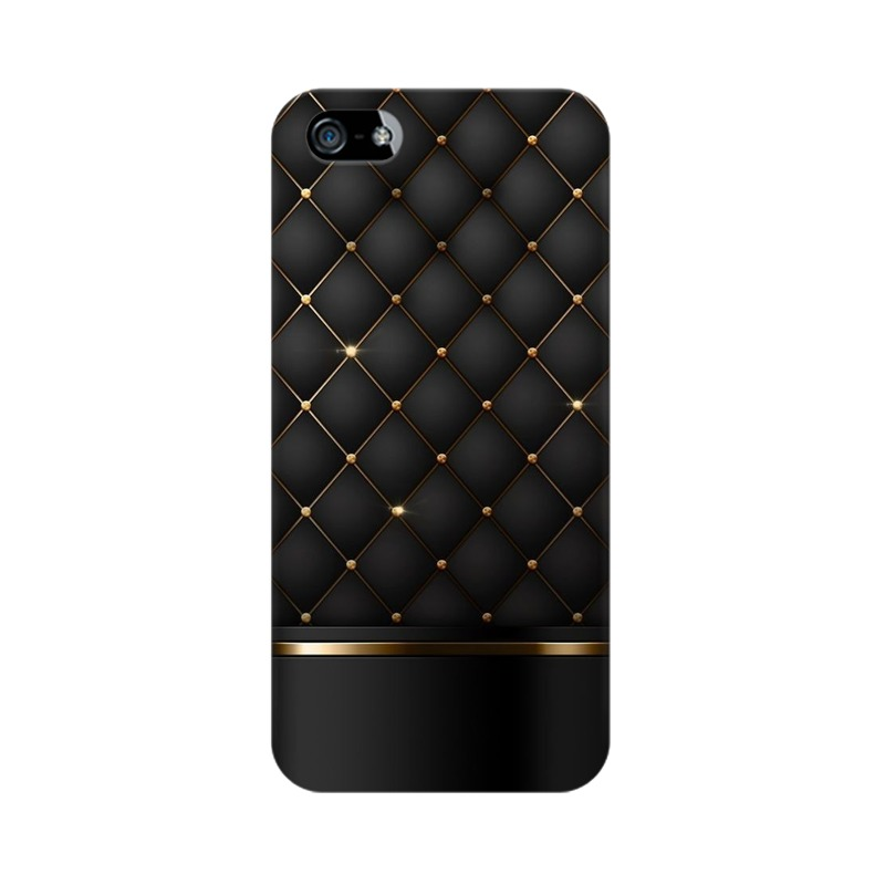 Black Gold Shine Texture Apple iPhone 5 Mobile Cover Case