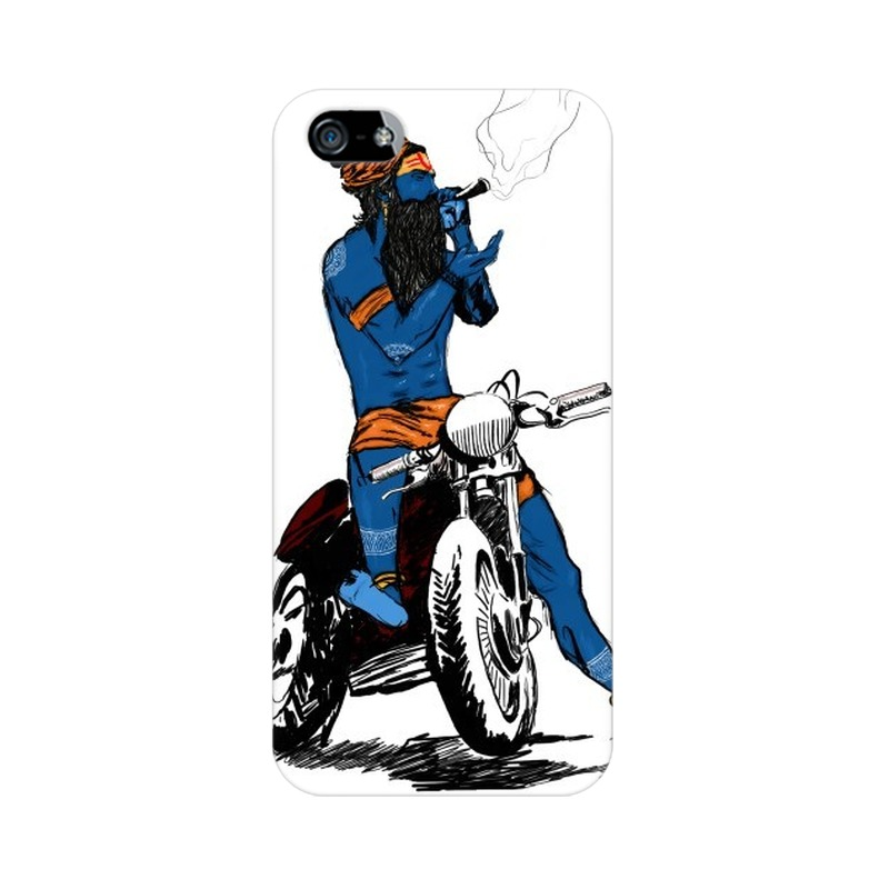 Biker Shiva Apple iPhone 5 Mobile Cover Case