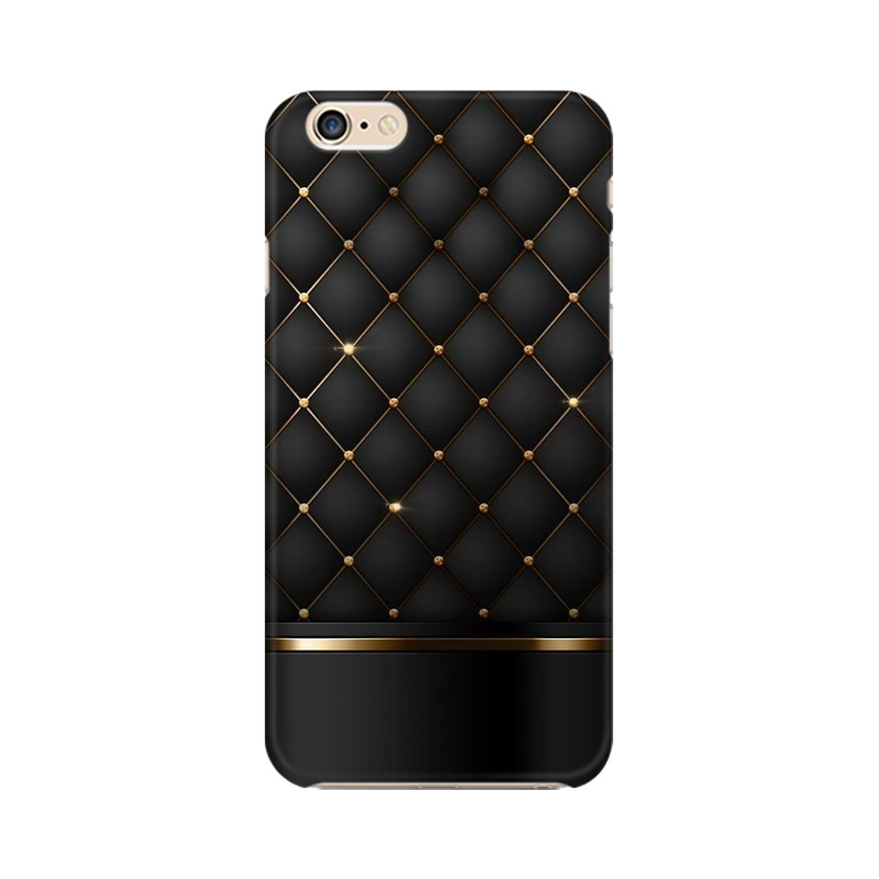 Black Gold Shine Texture Apple iPhone 6 Plus Mobile Cover Case