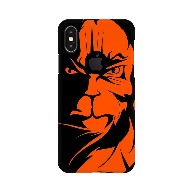 Angry Hanuman Apple iPhone X with Apple Hole Mobile Cover Case