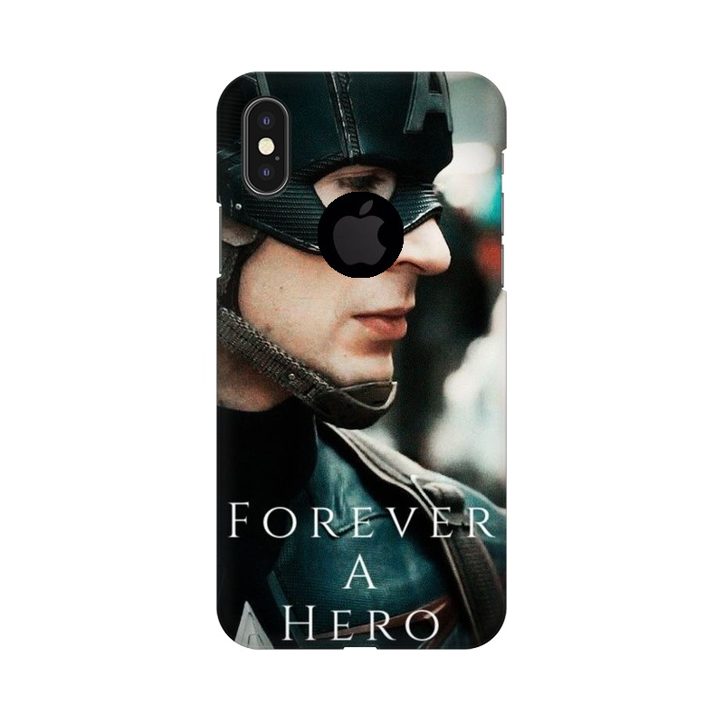 A True Hero Captain America Apple iPhone X with Apple Hole Mobile Cover Case