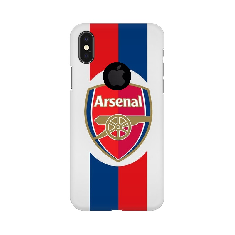 Arsenal Apple iPhone X with Apple Hole Mobile Cover Case