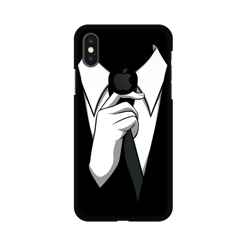 Anonymous Tie Apple iPhone X with Apple Hole Mobile Cover Case
