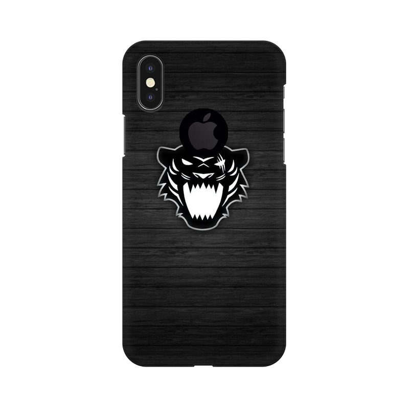 Black Panther Apple iPhone X with Apple Hole Mobile Cover Case