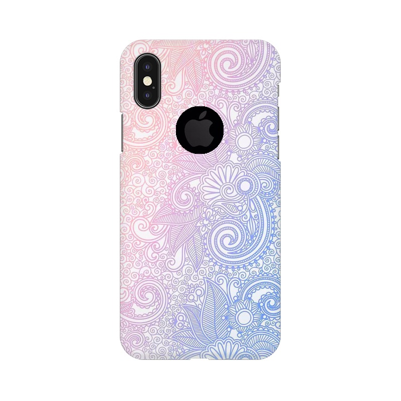 Beautiful rangoli Apple iPhone X with Apple Hole Mobile Cover Case