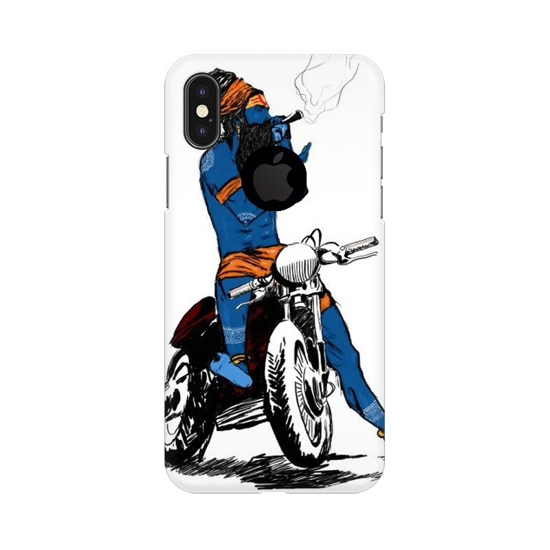 Biker Shiva Apple iPhone X with Apple Hole Mobile Cover Case
