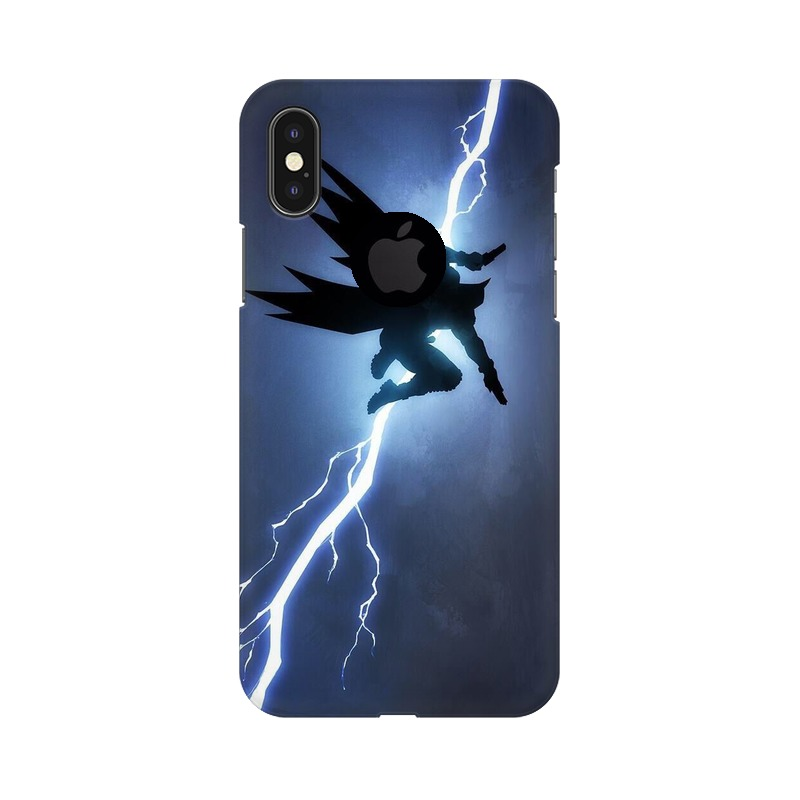 Batman Thunder Apple iPhone X with Apple Hole Mobile Cover Case