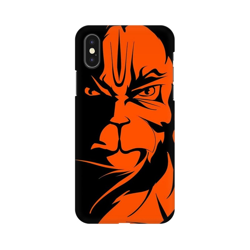 Angry Hanuman Apple iPhone Xs Mobile Cover Case