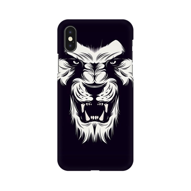 Angry Wolf Apple iPhone Xs Mobile Cover Case