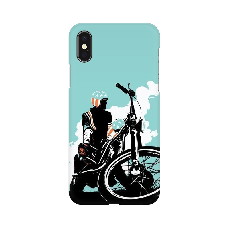 American Biker Apple iPhone Xs Mobile Cover Case