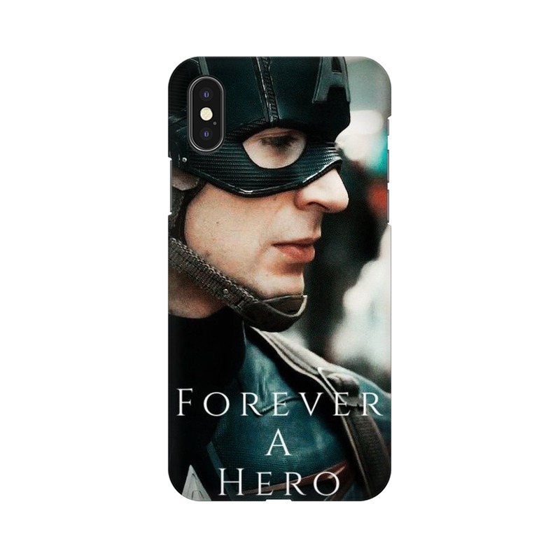 A True Hero Captain America Apple iPhone Xs Mobile Cover Case