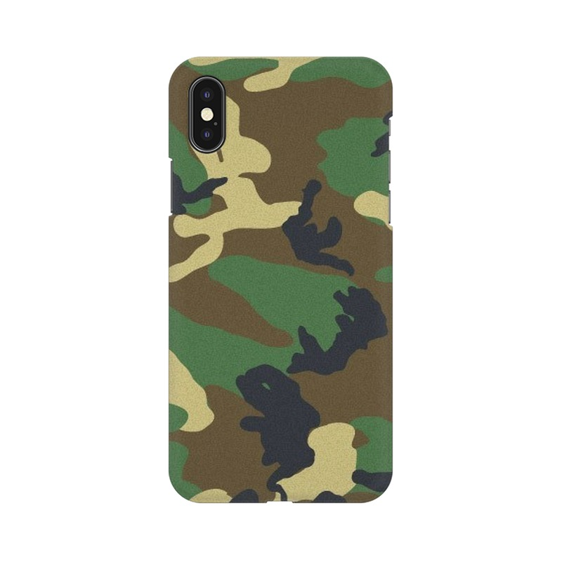 Army Texture Apple iPhone Xs Mobile Cover Case