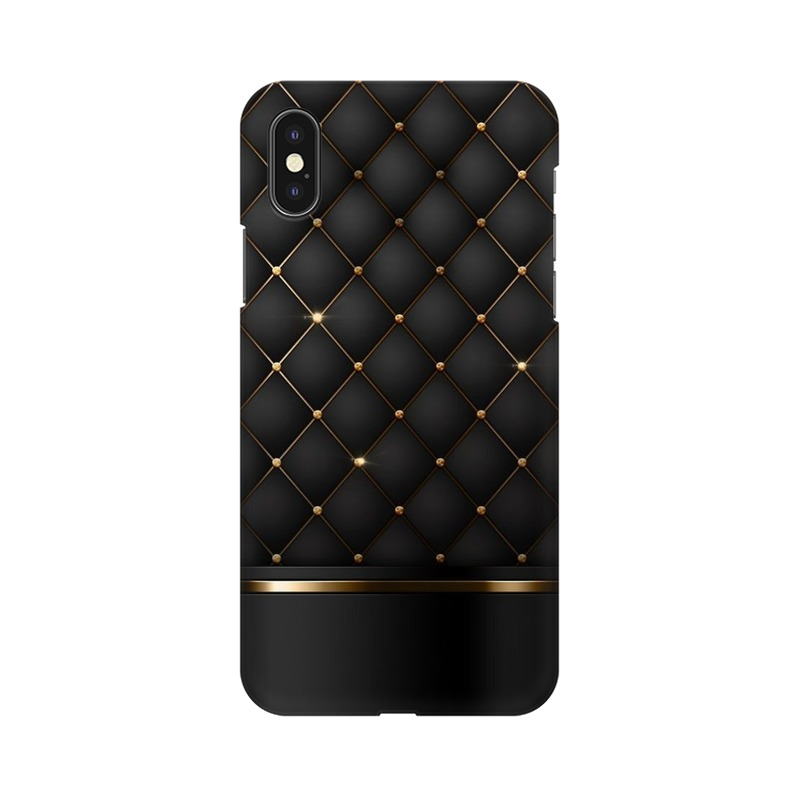 Black Gold Shine Texture Apple iPhone Xs Mobile Cover Case