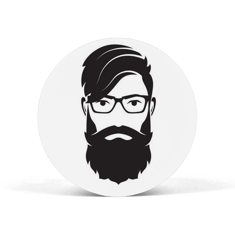 Bearded Man with Specs Pop Socket Grip Mobile Holder