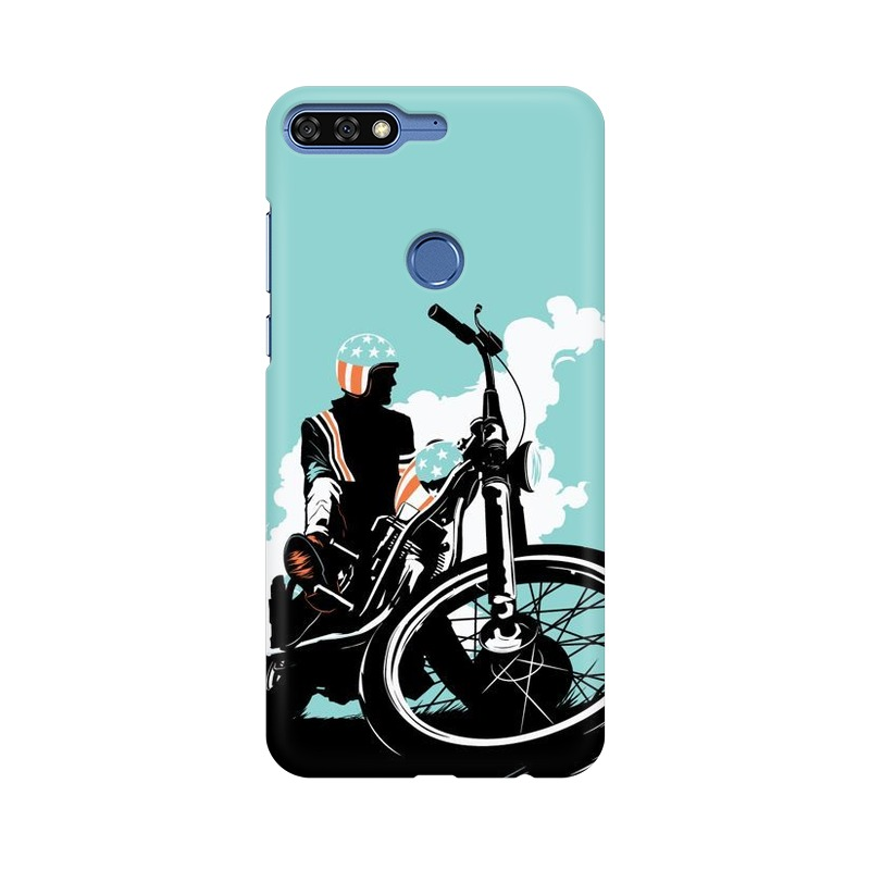 American Biker Huawei Honor 7C Mobile Cover Case