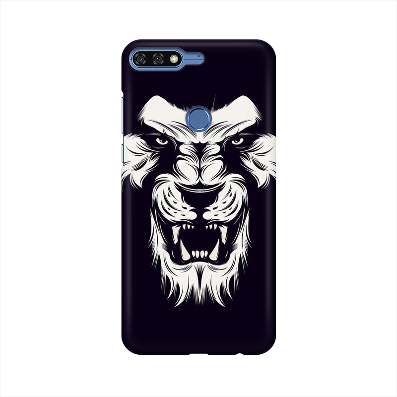 Angry Wolf Huawei Honor 7C Mobile Cover Case