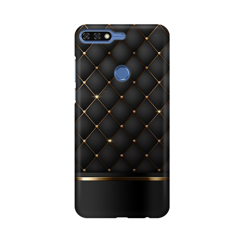 Black Gold Shine Texture Huawei Honor 7C Mobile Cover Case
