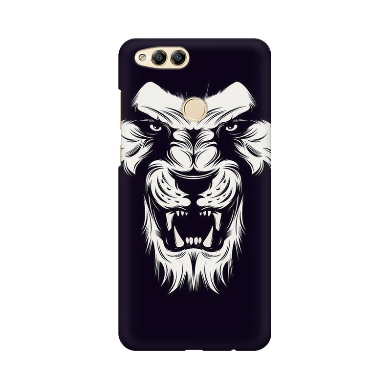 Angry Wolf Huawei Honor 7X Mobile Cover Case