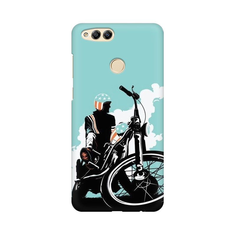 American Biker Huawei Honor 7X Mobile Cover Case