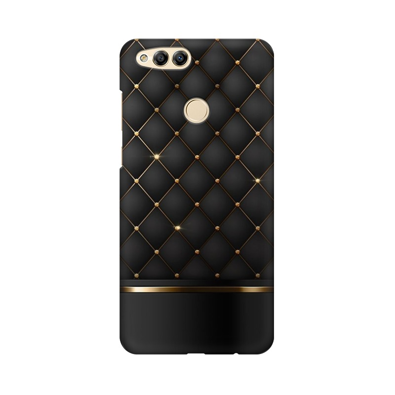 Black Gold Shine Texture Huawei Honor 7X Mobile Cover Case