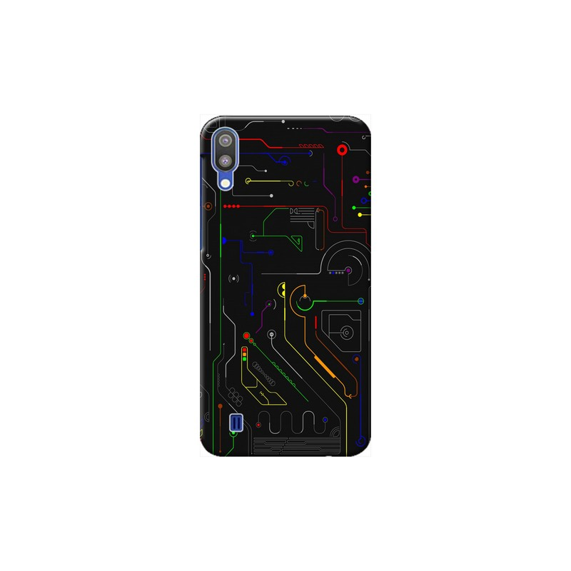 IC illuminated colored lines Samsung Galaxy M10 Mobile Cover