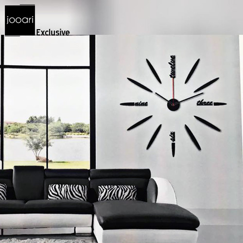 Jooari Black Stick Wallclock