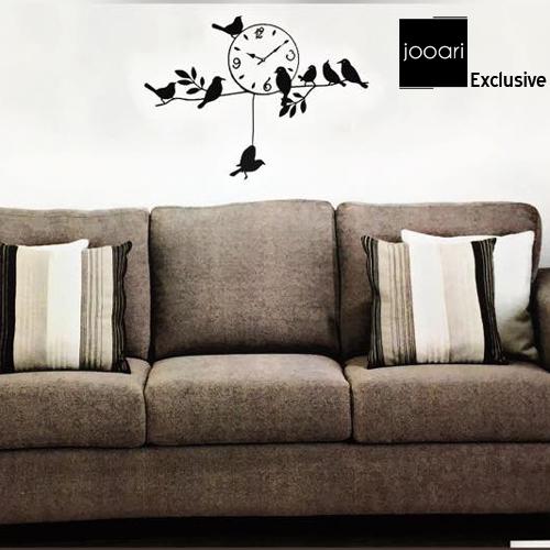Jooari Bird Flock Wallclock