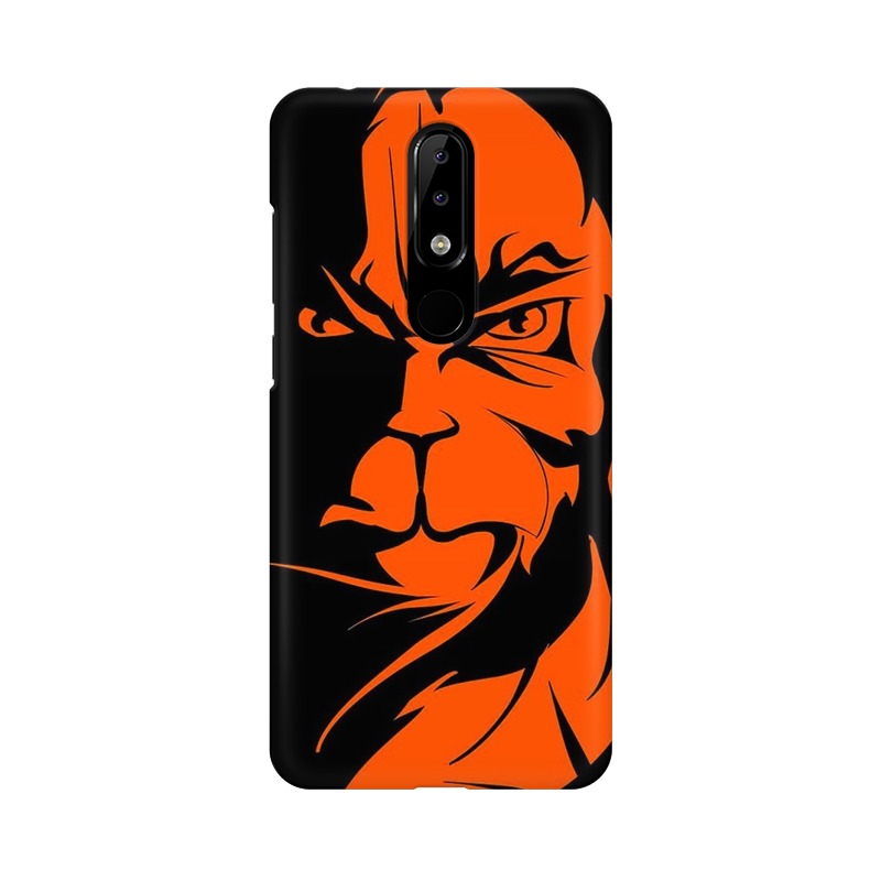 Angry Hanuman Nokia 5.1 Plus Mobile Cover Case