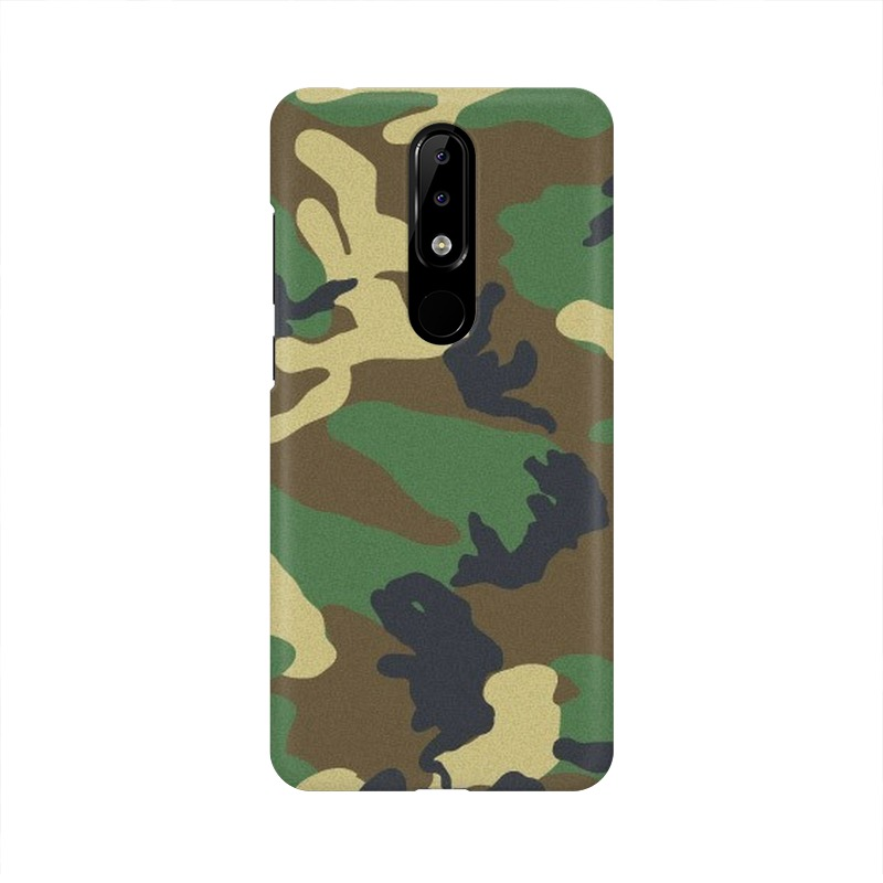 Army Texture Nokia 5.1 Plus Mobile Cover Case