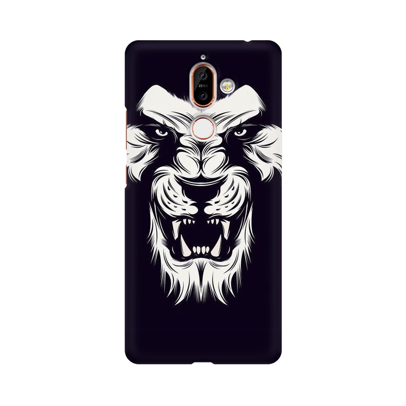 Angry Wolf Nokia 7 Plus Mobile Cover Case