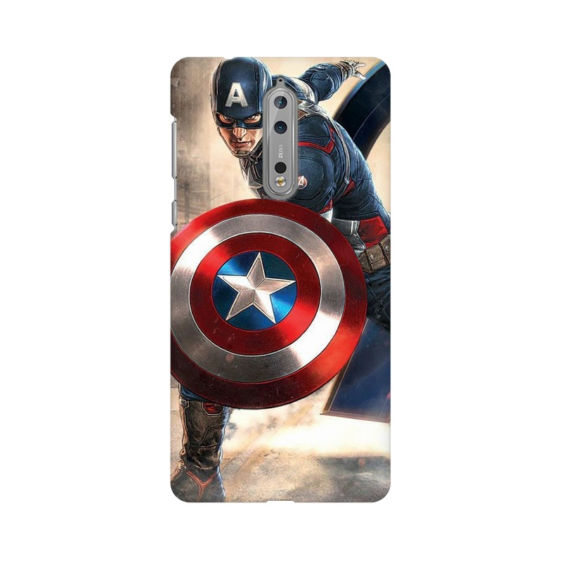Captain America Fighting Nokia 8 Mobile Cover Case
