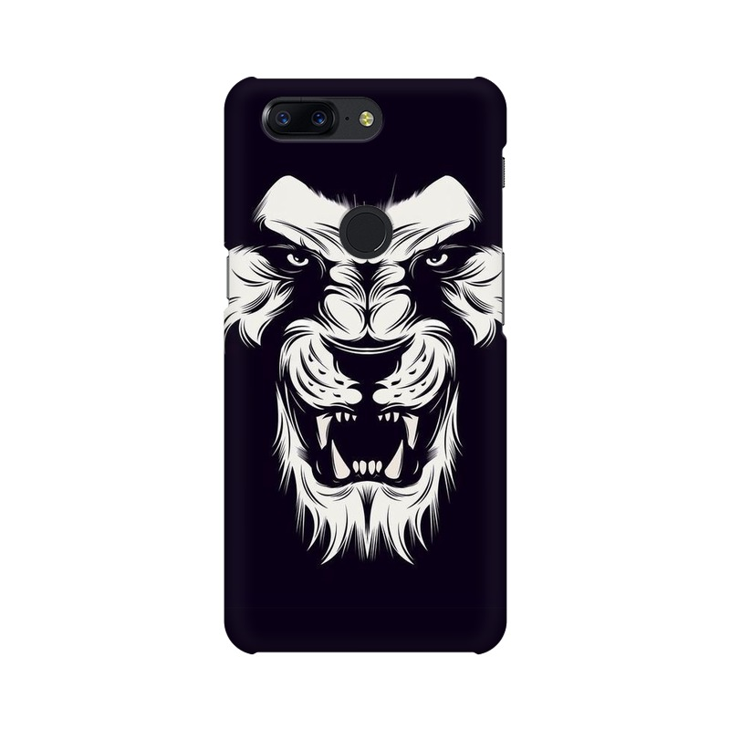Angry Wolf One Plus 5T Mobile Cover Case