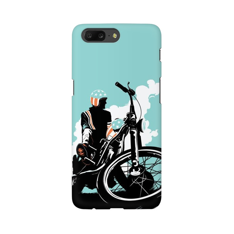 American Biker One Plus 5 Mobile Cover Case
