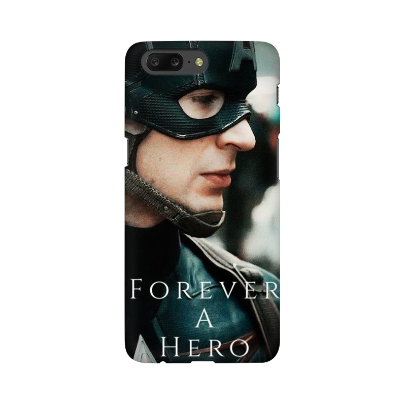 A True Hero Captain America One Plus 5 Mobile Cover Case