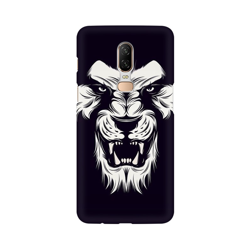 Angry Wolf One Plus 6 Mobile Cover Case
