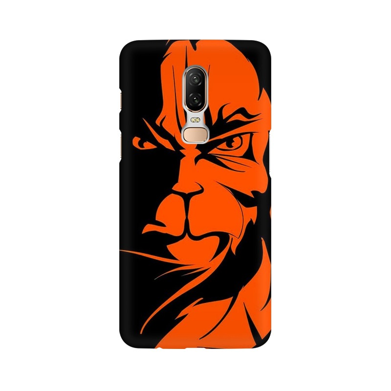 Angry Hanuman One Plus 6 Mobile Cover Case