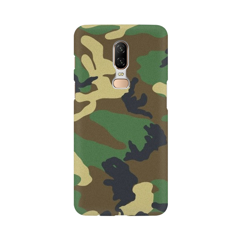Army Texture One Plus 6 Mobile Cover Case