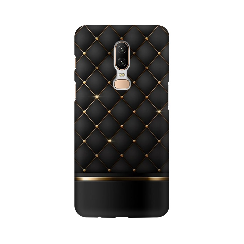 Black Gold Shine Texture One Plus 6 Mobile Cover Case