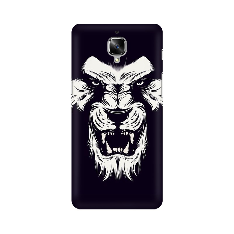 Angry Wolf One Plus 3 Mobile Cover Case