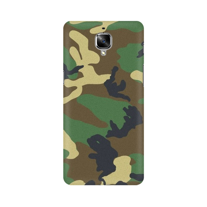 Army Texture One Plus 3 Mobile Cover Case