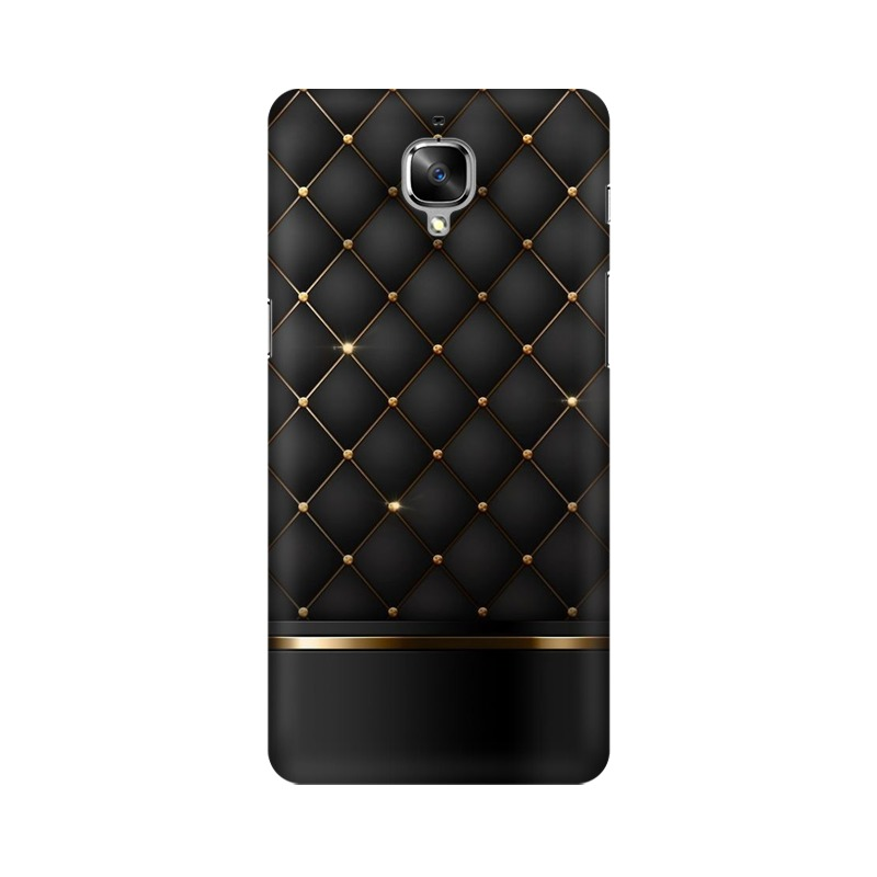 Black Gold Shine Texture One Plus 3 Mobile Cover Case