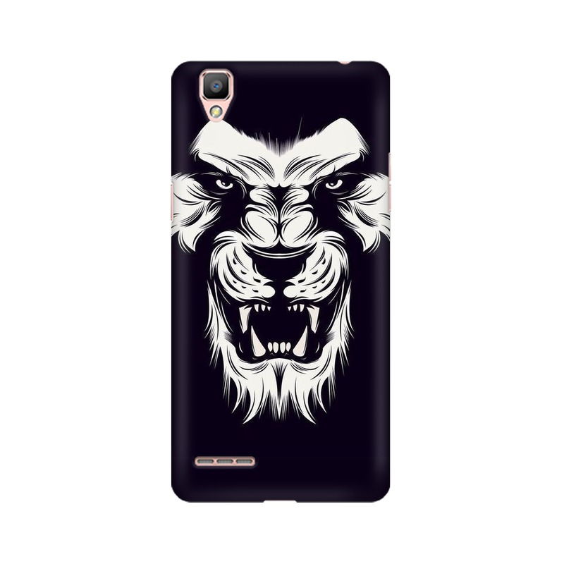 Angry Wolf Oppo A35 Mobile Cover Case