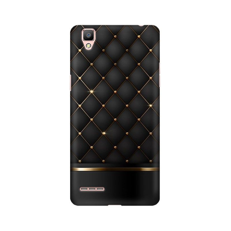 Black Gold Shine Texture Oppo A35 Mobile Cover Case