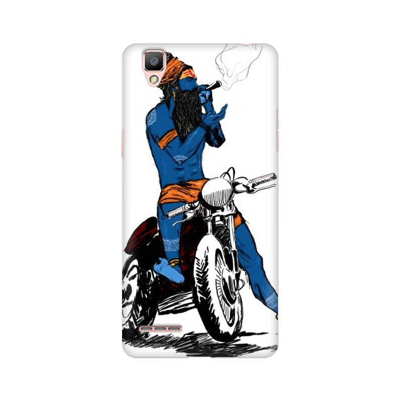 Biker Shiva Oppo A35 Mobile Cover Case