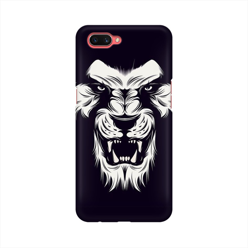 Angry Wolf Oppo A3s Mobile Cover Case