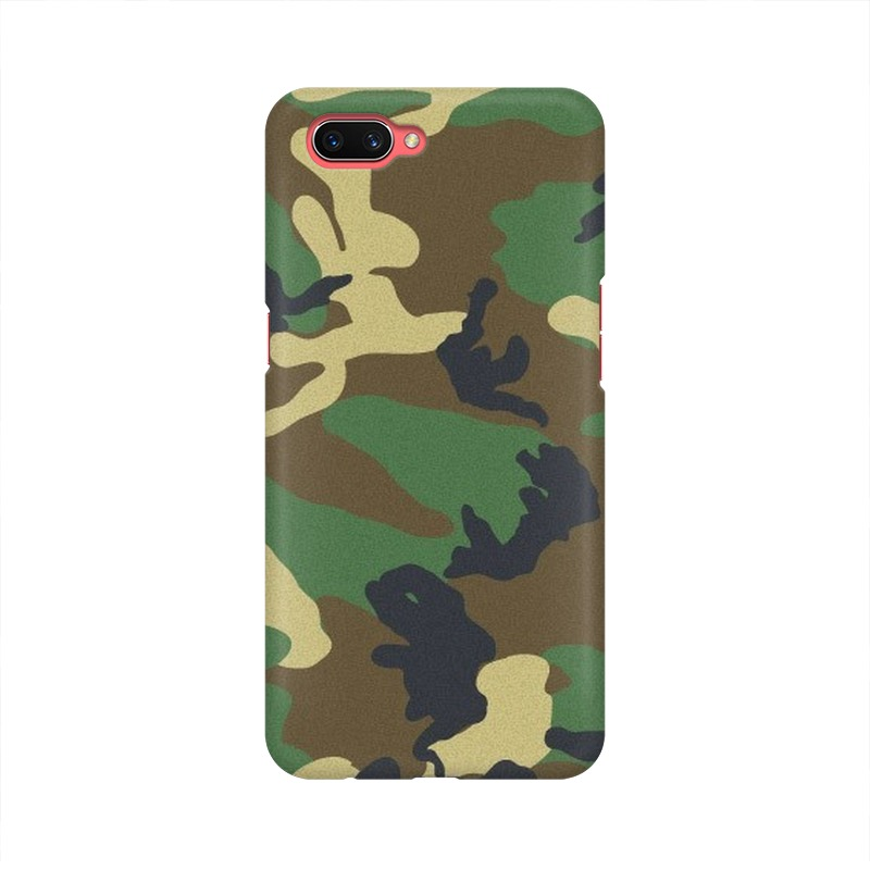 Army Texture Oppo A3S Mobile Cover Case