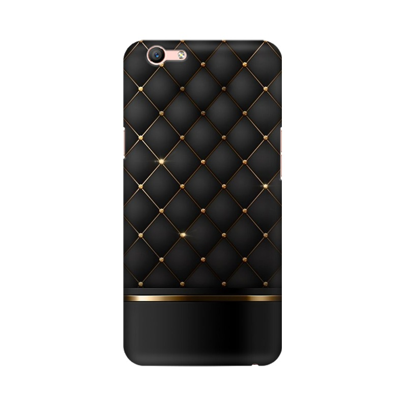 Black Gold Shine Texture Oppo A59 Mobile Cover Case