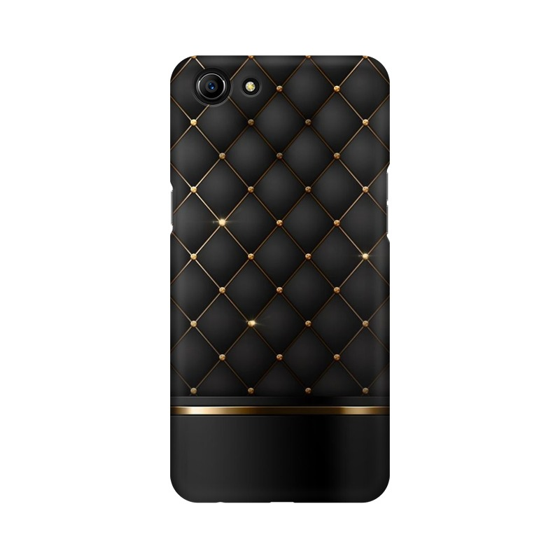 Black Gold Shine Texture Oppo A83 Mobile Cover Case