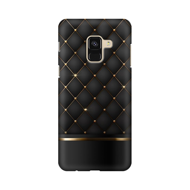 Black Gold Shine Texture Samsung Galaxy A8 Plus Mobile Cover Case